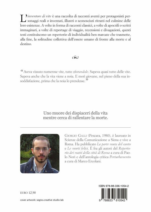 9788833610542 | L'inventore di vite | Giorgio Galli